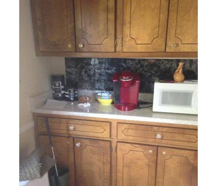 Kitchen Fire Before and After After