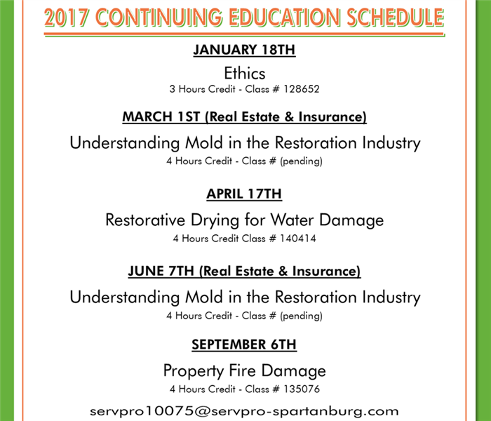 Continuing Education Schedule