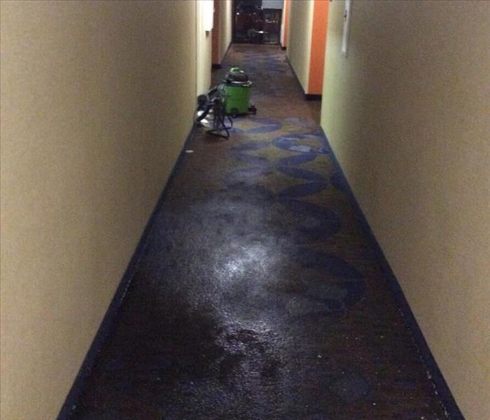 Hallway Water Damage in Spartanburg, SC