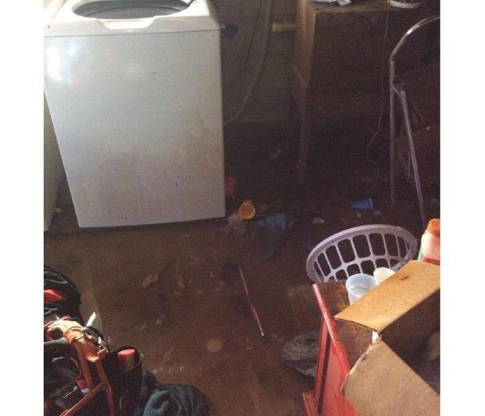 Flooded Basement in Spartanburg, SC